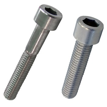 Tornillo din-912 de cabeza cilíndrica con hueco hexagonal, de acero inoxidable a2 y rosca métrica.