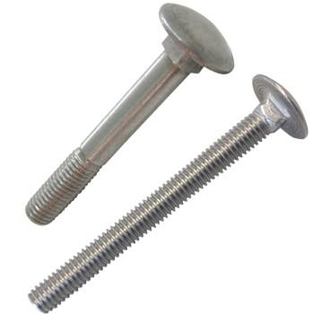 Tornillo din-603 de cabeza abombada y cuello cuadrado, de acero inoxidable a2 y rosca métrica.