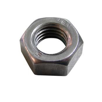 Tuerca din-934 hexagonal, de acero y rosca métrica.