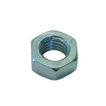 Tuerca din-934 hexagonal, de acero cincado y rosca métrica.