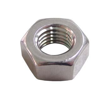 Tuerca din-934 hexagonal, de acero inoxidable a2 y rosca métrica.