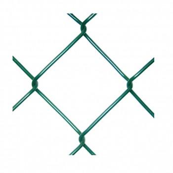 Tela métalica simple torsión plastificada verde