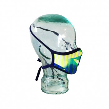 Mascarilla reutilizable turbo mask 2 amarilla-verde
