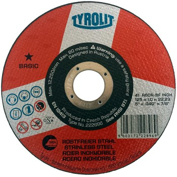Disco de corte para acero inoxidable ref. basic 41 a60-bf inox