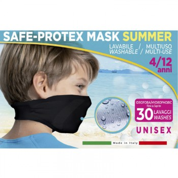 Mascarilla reutilizable summer light junior negra
