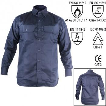 Camisa manga larga con tratamiento ignífugo welder ref. wlr-100